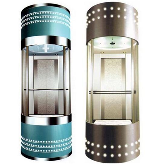 观光电梯乘客电梯曳引式