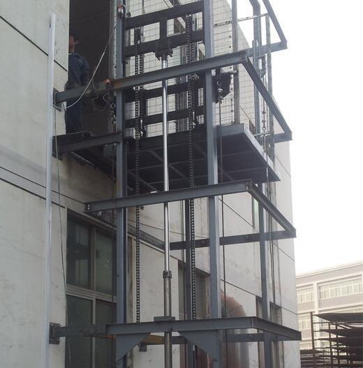 乍浦升降货梯电动液压升降机货运电梯单轨